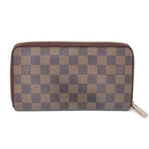 Auth Louis Vuitton Damier Zippy Organizer Wallet
